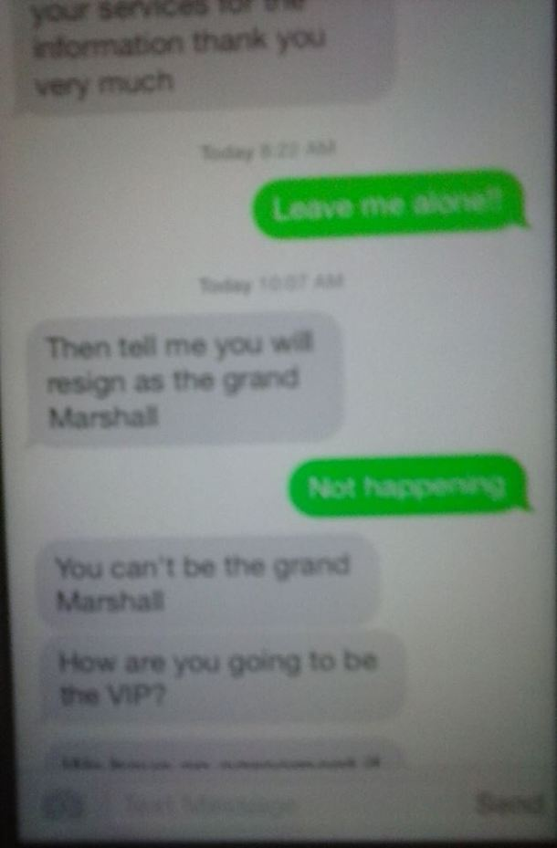 #7 VIP and Grand Marshall......Resign not happening